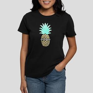 Alpha Sigma Alpha Pineapple Women's Dark T-Shirt
