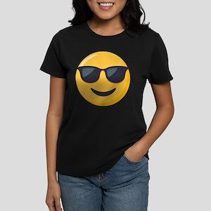 Sunglasses Emoji Women's Dark T-Shirt
