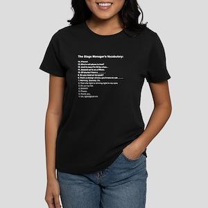 Stage Manager's Vocab Women's Dark T-Shirt