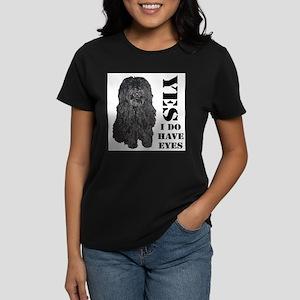 Puli : Yes I Do Have Eyes Women's Dark T-Shirt