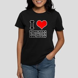 I Heart (Love) Elevators Women's Dark T-Shirt