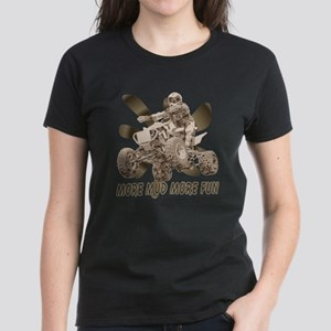More Mud More Fun on an ATV Women's Dark T-Shirt
