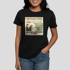 born in 1986 birthday gift Women's Dark T-Shirt