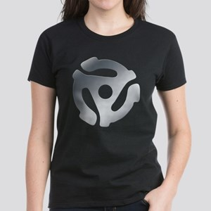 Silver 45 RPM Adapter Women's Dark T-Shirt