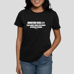 AVIATION RULE #1 Women's Dark T-Shirt