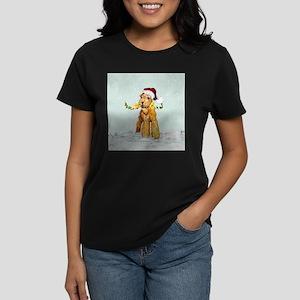 Winter Airedale Women's Dark T-Shirt