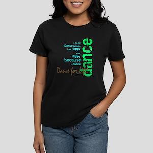 Dance for Life 1 Women's Dark T-Shirt