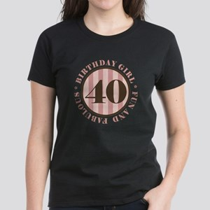 Fun & Fabulous 40th Birthday Women's Dark T-Shirt