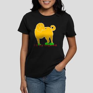 Golden Tripawd Love Women's Dark T-Shirt