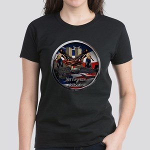 911 NOT FORGOTTEN Women's Dark T-Shirt