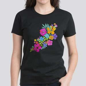 Tropical Flowers Women's Dark T-Shirt