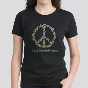 Bees be with you (peace symbo Women's Dark T-Shirt