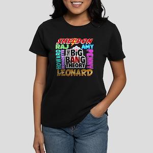 Big Bang Theory Cast Women's Dark T-Shirt