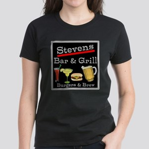 Personalized Bar and Grill Women's Dark T-Shirt