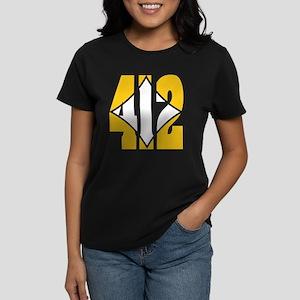 412 Gold/Whilte-D Women's Dark T-Shirt