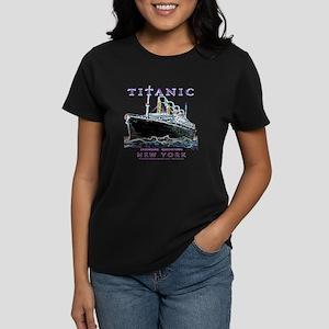 Titanic Neon (black) Women's Dark T-Shirt