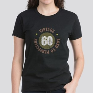60th Vintage birthday Women's Dark T-Shirt