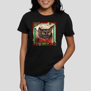 Sable Burmese Xmas, frame 5 Women's Dark T-Shirt
