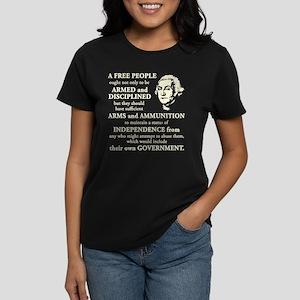 Washington Quote - A Free People Women's Dark T-Sh