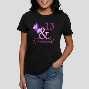 Fabulous 13th Birthday For Girls Women's Dark T-Sh