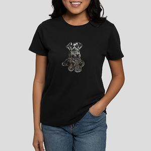Schnauzer (gp-blk) Women's Dark T-Shirt