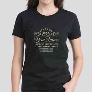 Personalize Funny Birthday Women's Dark T-Shirt