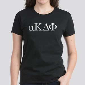 Alpha Kappa Delta Phi Letters Women's Dark T-Shirt