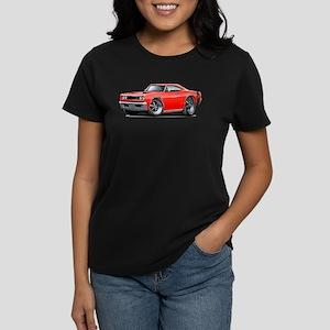 1969 Super Bee Red-Black Car Women's Dark T-Shirt