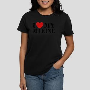 I Love My Marine Women's Dark T-Shirt