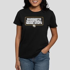 Marquette Golden Eagles Baske Women's Dark T-Shirt