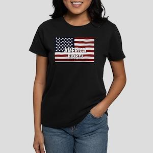 AMERICA FIRST! USA flag T-Shirt
