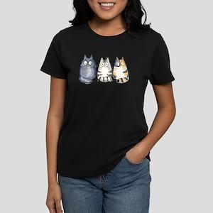 Three 3 Cats Women's Dark T-Shirt