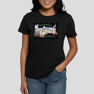 New Orleans Louisiana Greetin Women's Dark T-Shirt