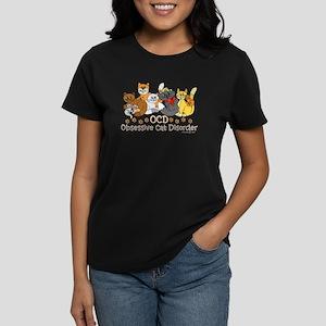 OCD Obsessive Cat Disorder Women's Dark T-Shirt