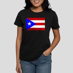 Puerto Rican Flag Women's Dark T-Shirt