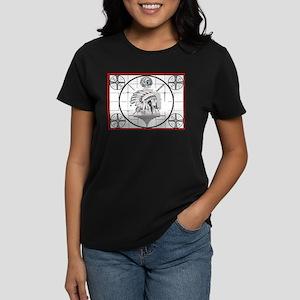 TV Test Pattern Indian Chief Women's Dark T-Shirt