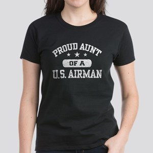 Proud Aunt of a US Airman Women's Dark T-Shirt