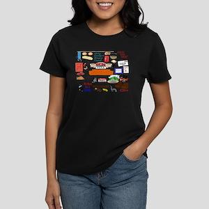 Friends TV Show Collage Women's Dark T-Shirt