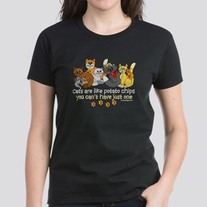 Cats are like potato chips Women's Dark T-Shirt