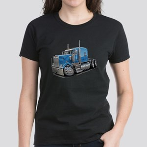 Kenworth W900 Lt Blue Truck Women's Dark T-Shirt