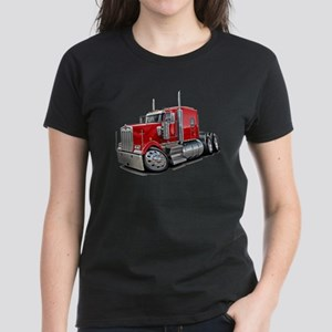 Kenworth W900 Red Truck Women's Dark T-Shirt
