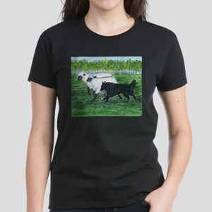 Belgian Sheepdog Herding Women's Dark T-Shirt