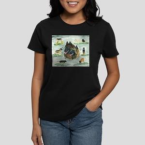 Belgian Tervuren Versatility Women's Dark T-Shirt