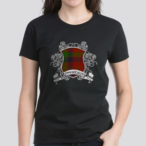 Robertson Tartan Shield Women's Dark T-Shirt