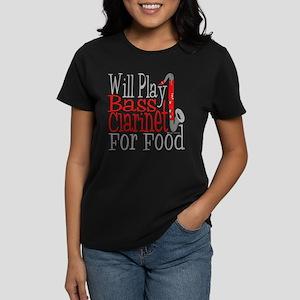 Will Play Bass Clarinet Women's Dark T-Shirt