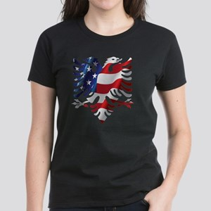 Albanian American Eagle Women's Dark T-Shirt