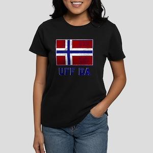 Uff Da Norway Flag Women's Dark T-Shirt