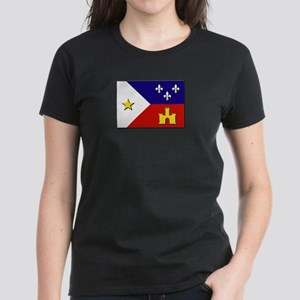 Flag of Acadiana Women's Dark T-Shirt