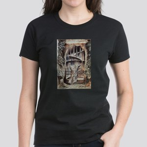 Dante and Virgil at the Entra Women's Dark T-Shirt