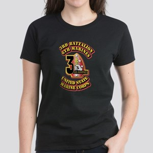 USMC - 3rd Battalion - 6th Marines Women's Dark T-